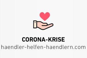 2020 COVID-19 Händler helfen Händler Logo