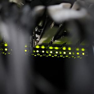 SysEleven Rechenzentren grüne Beleuchtung