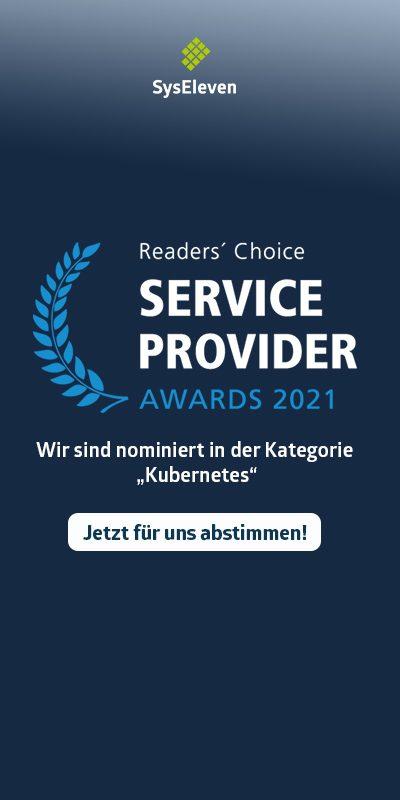 Readers Choice Award nomination SysEleven